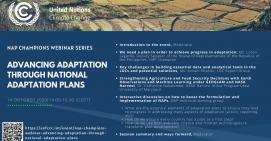 NAP Champions Webinar: Advancing adaptation through National Adaptation Plans